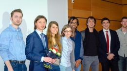 Marian's thesis defense with juror Prof. Clément Mazet, March 2016
