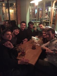 At the pub, November 2015