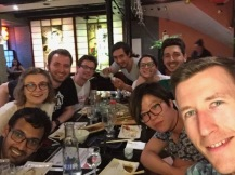 Celebrating the departure of our M2 students, Florent, Jing and Paul - June 2017